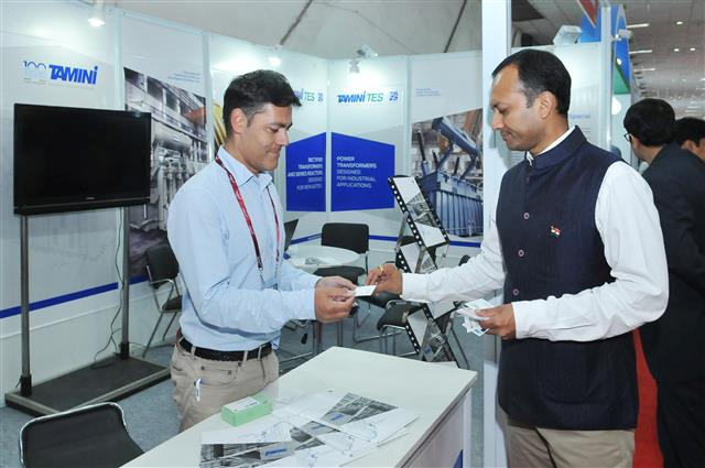 Our Sales Manager Filippo Buttini with Naveen Jindal, the Chairman of Jindal Steel and Power Limited.